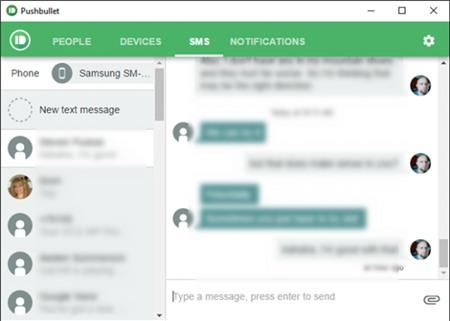Làm thế nào để gửi SMS từ máy tính khi kết nối với điện thoại Android?