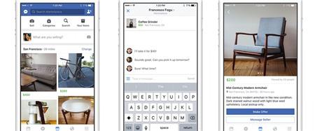 Facebook Marketplace chợ đồ cũ cho người dùng trên di động