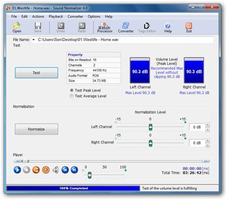 البرنامج Sound Normalizer image003.png