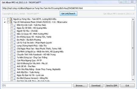 GetAlbumMP3 v7: Tải album nhạc chất lượng cao trên Zing MP3