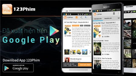 (e-CHÍP Online) - Ứng dụng mua vé xem phim trên di động 123Phim vừa ra mắt  phiên bản Android 1.3, cho phép người dùng Android có thể mua vé xem phim  trực ...