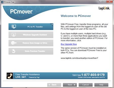 PCmover Free : Chuyển dữ liệu máy tính Windows XP sang máy tính Windows mới - Image 1