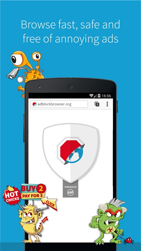 Adblock Browser: Duyệt web an toàn, không quảng cáo