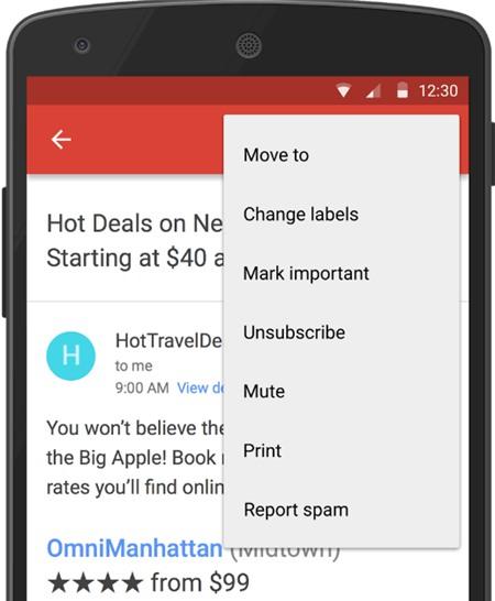 Thủ thuật Gmail Android: Chặn triệt để thư rác