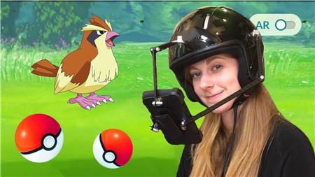 Mũ bảo hiểm dành cho game thủ Pokemon Go lười biếng