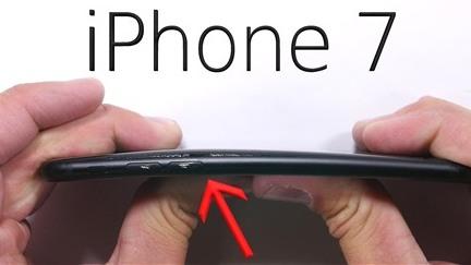 Thử độ bền màn hình, lưng, nút home, kính camera, bẻ cong iPhone 7