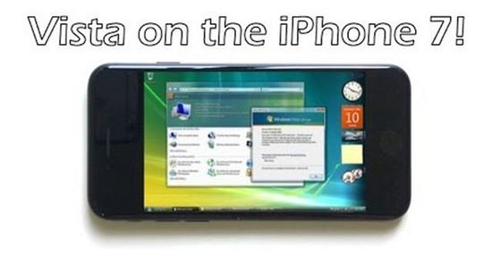 """iPhone 7 tiếp tục được """"lên đời"""" Windows Vista"""