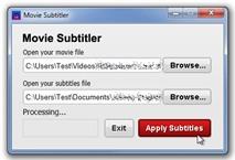 Free Movie Subtitler:  Gắn cứng phụ đề rời vào video