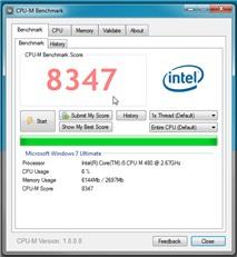 CPU-M 1.1: Benchmark CPU và xem thông tin phần cứng