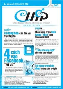 Mục lục Tạp chí e-CHÍP 603 ĐXVL (Thứ ba, 6/11/2012)