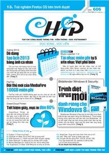 Mục lục Tạp chí e-CHÍP 606 ĐXVL (Thứ ba, 27/11/2012)