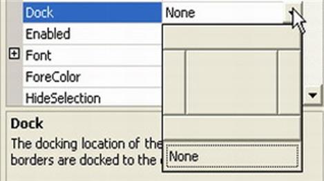 Sử dụng thuộc tính anchor và dock trên form