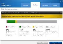 Uniblue MaxiDisk 2012: Giải phân mảnh đĩa chỉ trong vài giây