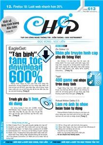 Mục lục Tạp chí e-CHÍP 613 ĐXVL (Thứ ba, 15/1/2013)