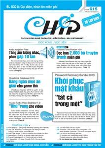 Mục lục Tạp chí e-CHÍP 615 ĐXVL (Thứ ba, 26/2/2013)