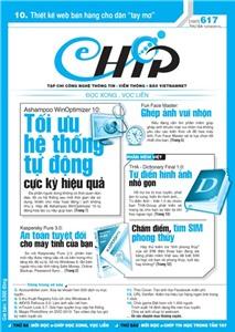 Mục lục Tạp chí e-CHÍP 617 ĐXVL (Thứ ba, 12/3/2013)