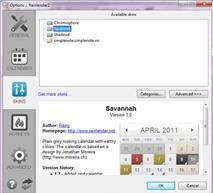 Rainlendar Pro 2.11: Quyển lịch đa năng trên desktop