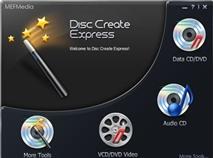 MEFMedia Disc Create Express 4.4.2: Trình ghi đĩa tí hon, dễ dùng