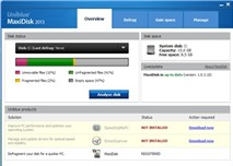 Uniblue MaxiDisk 2013: Tối ưu hoạt động ổ cứng