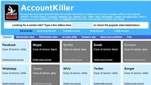 Accountkiller.com: Xóa tài khoản hơn 500 dịch vụ trực tuyến