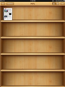 Mang tài liệu PDF vào kệ sách iBooks