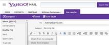 Kết nối Yahoo! Mail với Dropbox