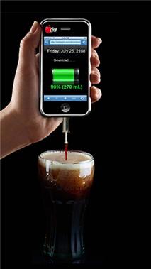 Vắt smartphone ra thức uống