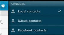 Kontacts: Danh bạ quản lý cả tài khoản... Facebook, Twitter
