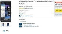 BlackBerry Z10 giảm giá còn 0 USD
