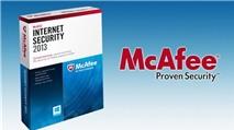 [Tải Ngay Kẻo Lỡ] Miễn phí 6 tháng bản quyền McAfee Internet Security 2013
