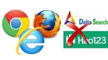 """Bứng """"tận gốc"""" thanh công cụ Delta Search, Hao123 khỏi trình duyệt"""