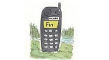 Tranh biếm Nokia mất mảng thiết bị và dịch vụ di động về tay Microsoft
