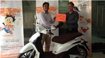 Vietnamobile trao thưởng xe máy Liberty cho khách hàng đấu giá ngược