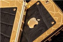 Xuất hiện iPhone 5S mạ vàng bọc da cá sấu