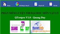 """Qtespro - QuangDuy V1.0: Luyện thi Vật lý """"cấp tốc"""""""