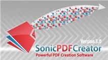 [Tải Ngay Kẻo Lỡ] Miễn phí bản quyền Sonic PDF Creator 3.0