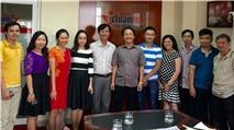 Lãnh đạo báo VietNamNet làm việc với Tạp chí e-CHÍP