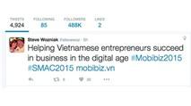 Đồng sáng lập Apple rầm rộ công bố chuyến sang Việt Nam