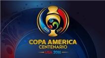 Lịch thi đấu Copa America 2016 bằng file Excel