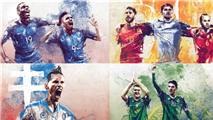 Poster nghệ thuật độc đáo của 24 đội dự Euro 2016