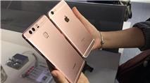 Trên tay Huawei P9 phiên bản màu vàng hồng
