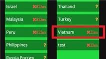 Việt Nam đã xuất hiện trong danh sách server chờ của Pokemon GO