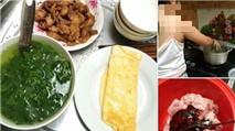 Tranh luận sôi nổi về mâm cơm đầy đủ rau thịt do bé gái lớp 5 nấu