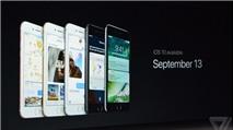 iOS 10 sẽ phát hành chính thức vào ngày 13/9