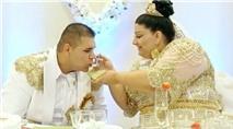 Cô dâu mặc váy thêu vàng 5 tỷ, đính Euro kín người làm choáng váng cộng đồng mạng