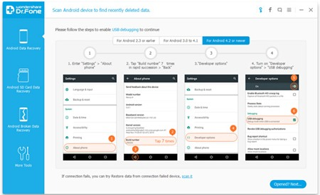 điện thoại, Android, khôi phục dữ liệu