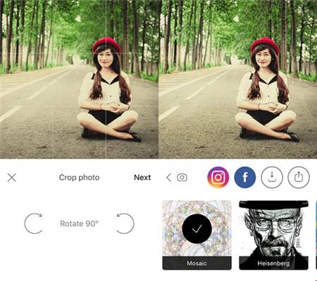 Áp dụng 35 bộ lọc của Prisma lên hình ảnh chỉ với một cú chạm