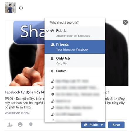 Tùy chỉnh giới hạn người xem trên Facebook