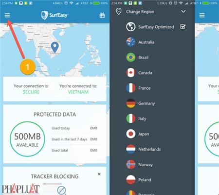 SurfEasy là ứng dụng VPN khá tốt trên Android và máy tính
