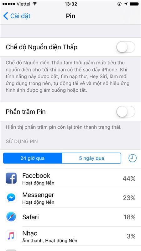 Mẹo nhỏ giúp bạn tiết kiệm pin cho iPhone chạy iOS 10